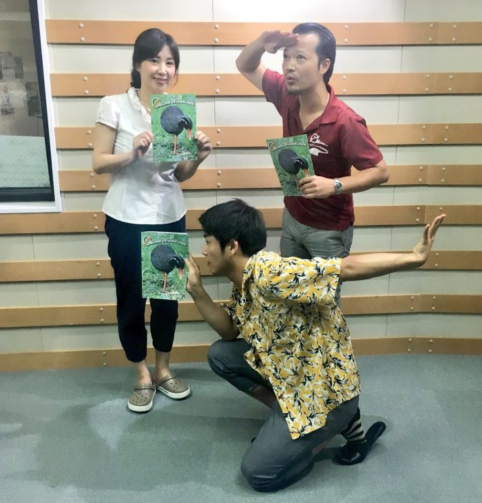 放送後の1枚は、やっさんパナウル像&与論を見渡すE.KEMURA! ィヨロシク!