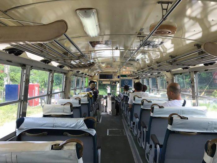 内装は思ったよりも古くなく、快適でした♪ バス好きさんも乗車を楽しんでましたね♪