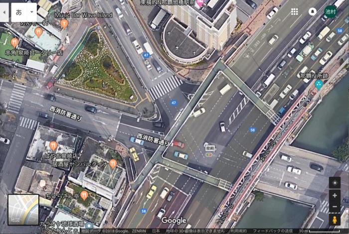 泉崎交差点の左側に緑の三角があるっしょ!? by Google Map