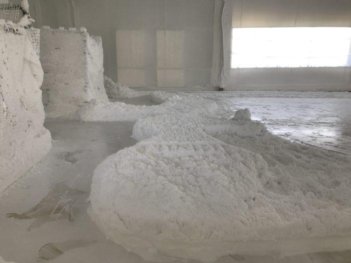 塩で形取った『沖縄』とのこと♪ しゃれちょん!