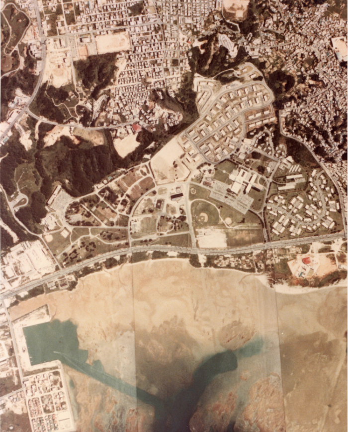 埋め立て前の美浜地区:北谷町提供